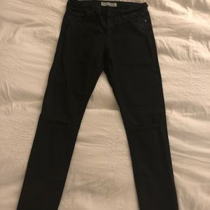 TOPSHOP Leigh black distressed jeans 28